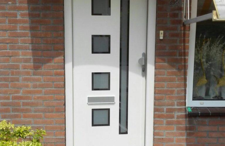 Aluminium deur met paneel